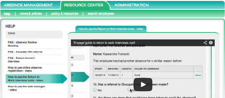 Engage Resource Hub offer useful tools and advice to help you make the most of our absence management portal