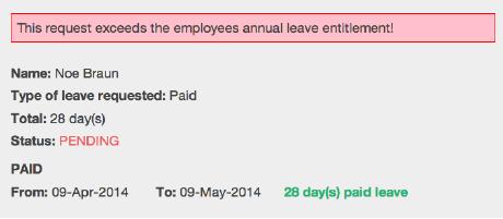 Engage holiday management tool tracks holiday entitlements